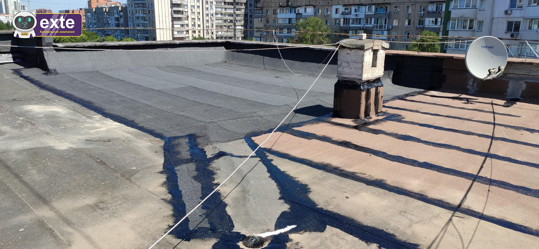 Частковий ремонт покрівлі багатоквартирного будинку